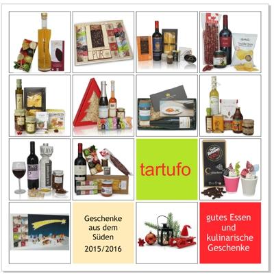 Weihnachtsgeschenke für Kunden und Mitarbeiter - tartufo Katalog 2015